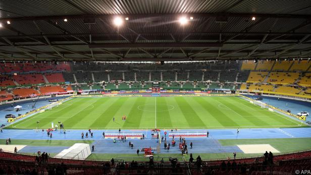 Blick in das Oval des Ernst Happel-Stadions