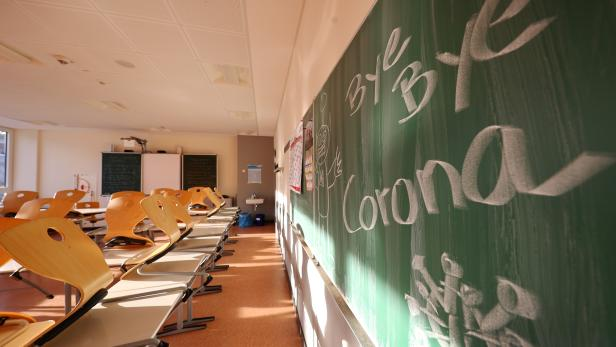 An empty class room is pictured at Hesse's largest high school, Karl-Rehbein-Schule after schools are closed down nationwide due to the coronavirus disease ( COVID-19 ) in Hanau