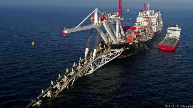 Bau an der Ostsee-Pipeline Nord Stream 2