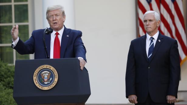 US President Trump speaks in the Rose Garden