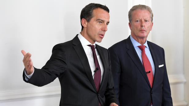 Bundeskanzler Christian Kern (links) und Vizekanzler Reinhold Mitterlehner.