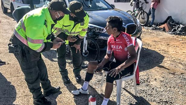CYCLING-COLOMBIA-QUINTANA-ACCIDENT