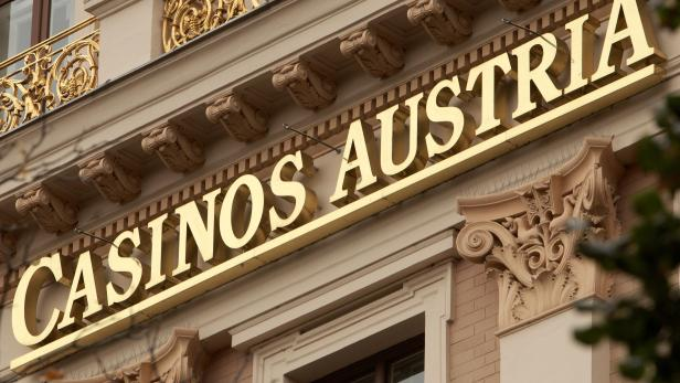 FILE PHOTO: The logo of Austrian gambling monopolist Casinos Austria is pictured on its headquarters in Vienna
