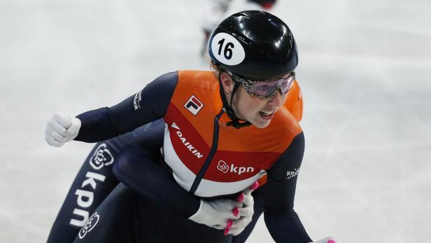 FILE PHOTO: ISU World Short Track Speed Skating Championships