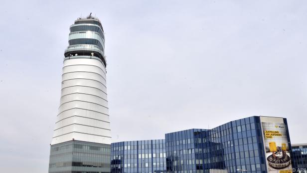 Tower auf dem Flughafen Wien