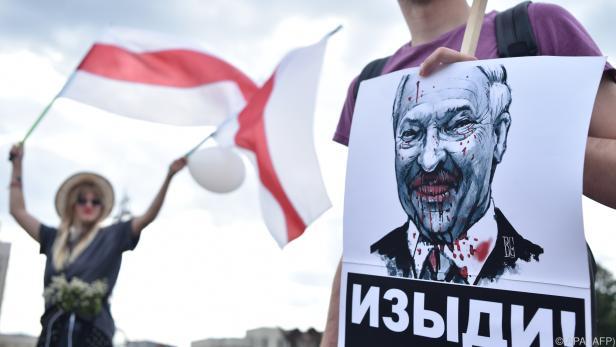 Staatschef Lukaschenko bei Demonstranten in Minsk unbeliebt
