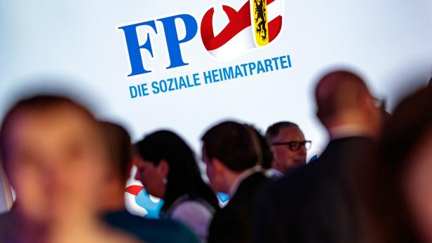 SALZBURG-LANDTAGSWAHL: FPÖ LOGO / WAHLPARTY