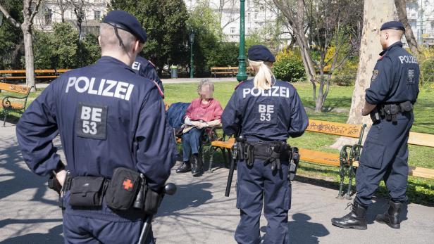 Polizeikontrollen im Wiener Stadtpark