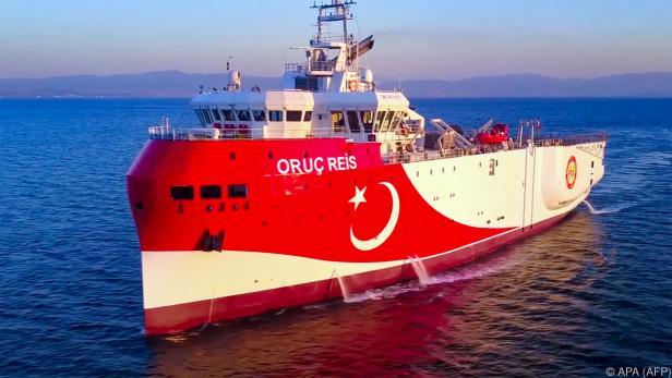 """Das türkische Gas-Erkundungsschiff """"Oruc Reis"""""""