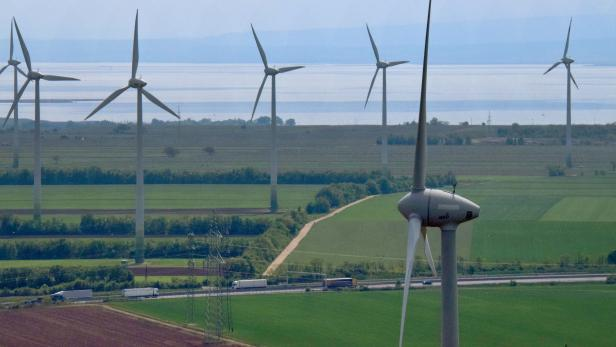 Windpark in Neusiedl am See