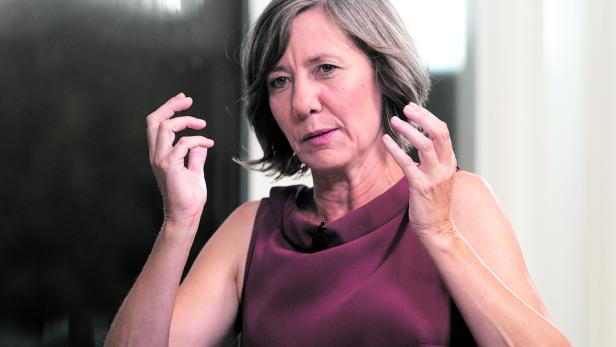 TV-Interview mit Vizebürgermeisterin Birgit Hebein