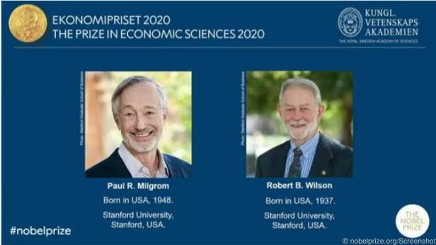 (v.l.): Paul R. Milgrom und Robert B. Wilson