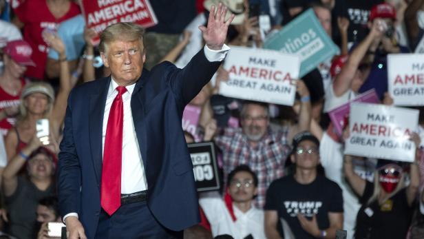 US President Trump's campaign event in Florida
