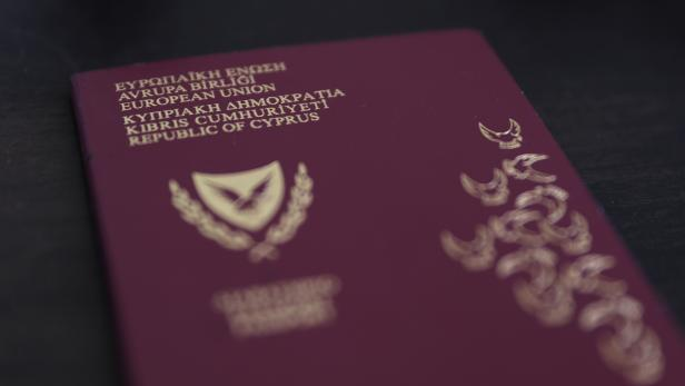 Photo illustration of a Cypriot passport