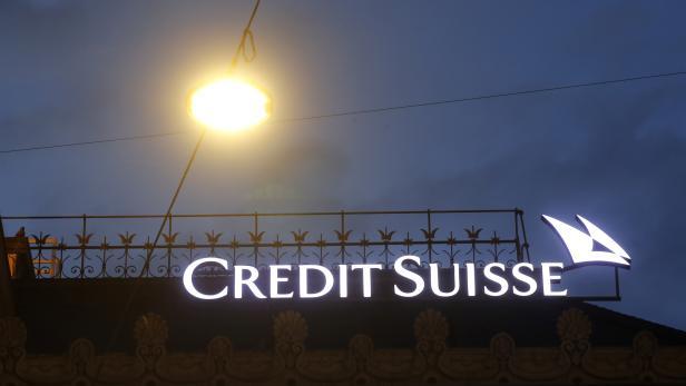 Logo of Swiss bank Credit Suisse is seen in Zurich