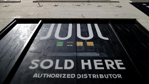 FILE PHOTO: A store selling Juul vaping products is seen in Los Angeles