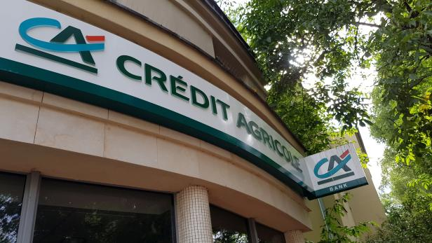 FILE PHOTO: The branch of Credit Agricole bank is seen in Warsaw