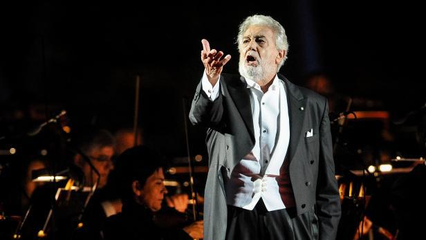 Spanish tenor Placido Domingo in Verona