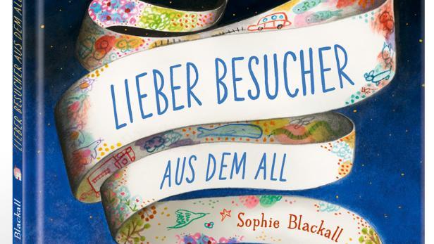 """Ausschnitt aus der Titelseite des Bilderbuchs """"Lieber Besucher aus dem All"""""""