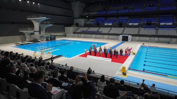Tokyo Aquatics Centre unveiled