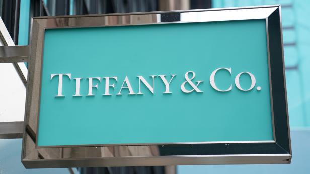 FILE PHOTO: A sign of Tiffany & Co. store is pictured in the Manhattan borough of New York City, U.S.