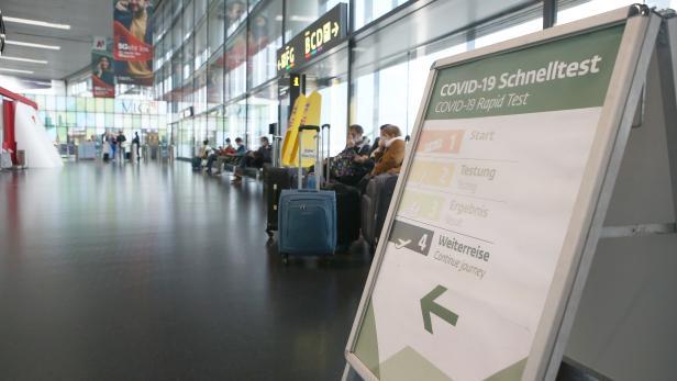 Antigen Schnelltest am Flughafen Wien Schwechat