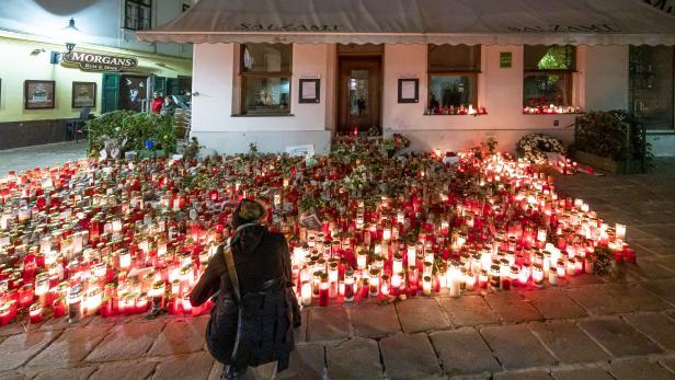 Gedenkstätte zum Terroranschlag am 2. November in Wien