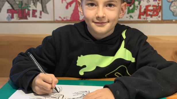 Tobias zeichnet
