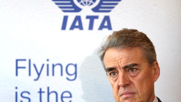 FILE PHOTO: IATA Director General and CEO de Juniac attends an interview with Reuters in Geneva