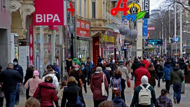 Weihnachtsshopping auf der Mariahilfer Straße