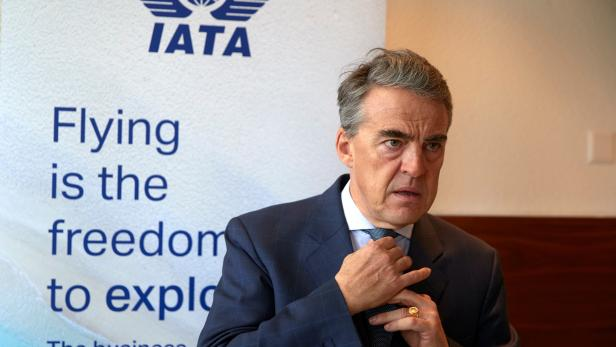 IATA Director General and CEO de Juniac attends an interview with Reuters in Geneva