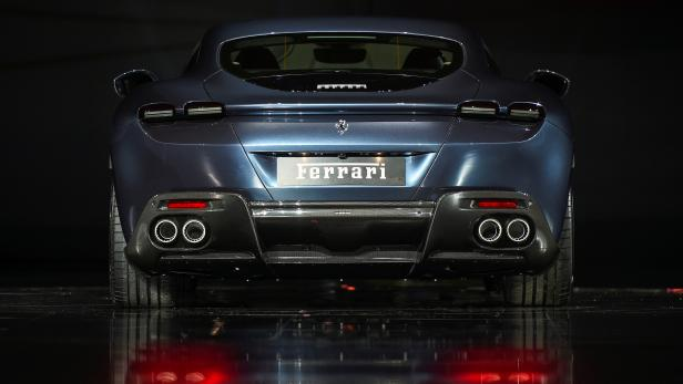 FILE PHOTO: Ferrari Roma is unveiled during its first world presentation in Rome
