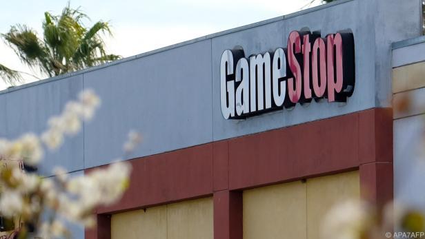 GameStop-Logo bei einem Händler