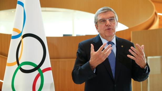 FILE PHOTO: Interview with IOC President Bach