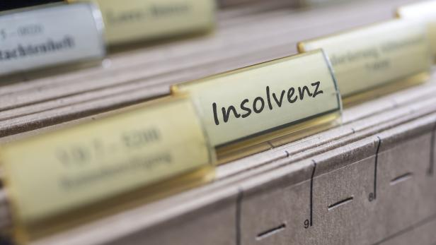 Old tab with the german word for insolvency