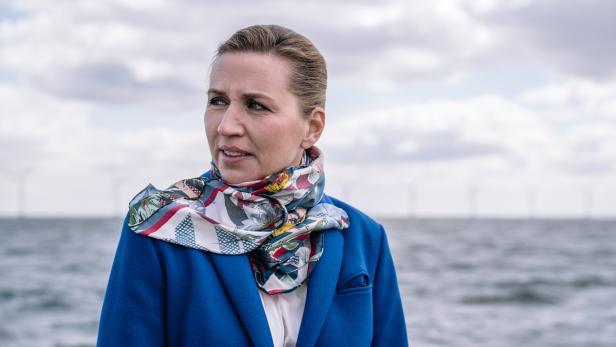 The Prime Minister sees Middelgrunden's wind turbines