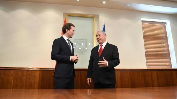 ÖVP-BUNDESPARTEIOBMANN KURZ IN ISRAEL: KURZ / NETANYAHU
