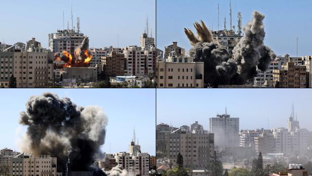 COMBO-PALESTINIAN-ISRAEL-CONFLICT-GAZA
