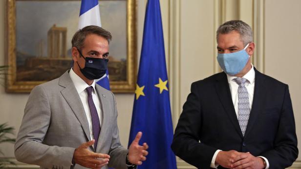 Austrian Interior Minister Karl Nehammer visits Greece