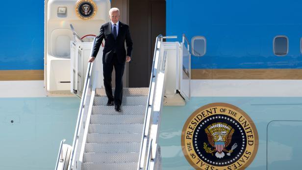 U.S. President Biden arrives in Geneva