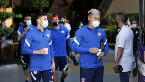 Copa America 2021 - Chile players prior to their game against Uruguay