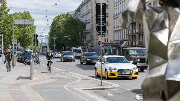 Geplanter Pop-Up-Radweg Praaterstraße