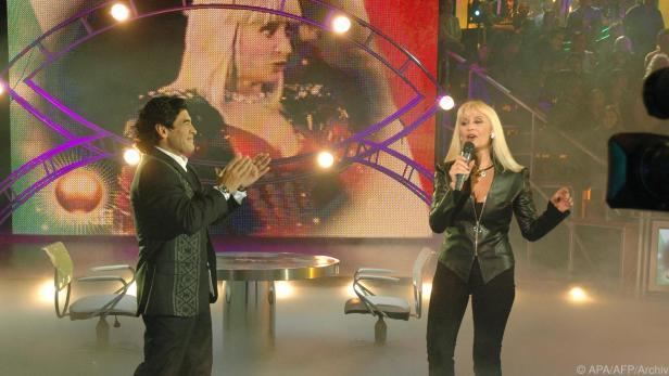 Raffaella Carrá während einer Show im Jahr 2005