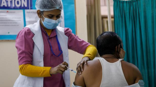 FILE PHOTO: COVID-19 vaccination in New Delhi