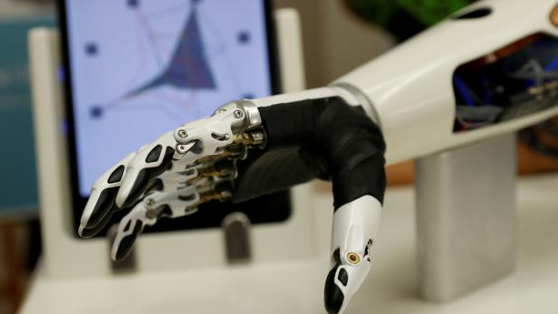 FILE PHOTO: A bebionic hand is seen during the Ottobock media day in Vienna