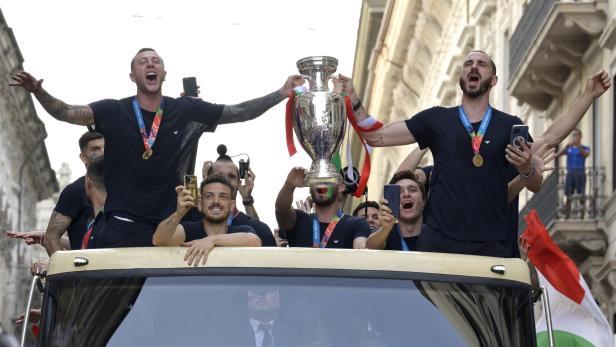 UEFA EURO 2020 winning Italian national football team