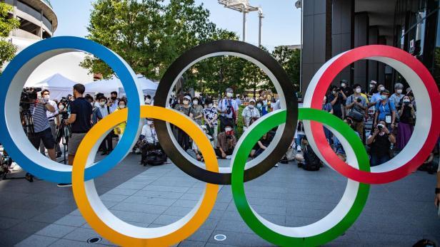 Die olympischen Ringe in Tokio