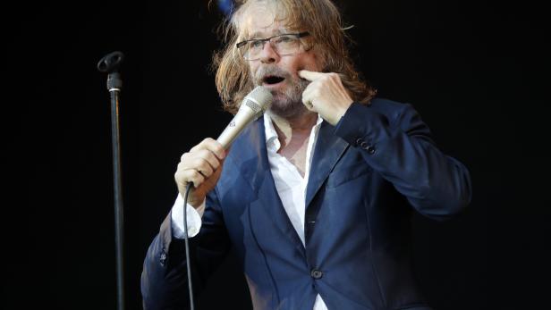 Helge Schneider performs in Berlin