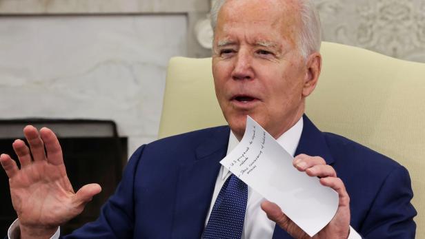 U.S. President Joe Biden holds bilateral meeting with Iraq's Prime Minister Mustafa Al-Kadhimi at the White House in Washington