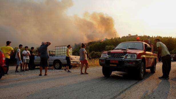 Wildfire on Rhodes island